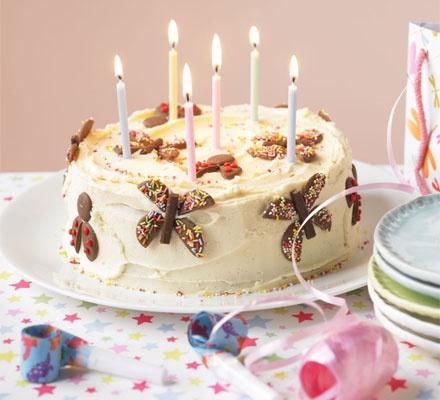 Birthday bug cake